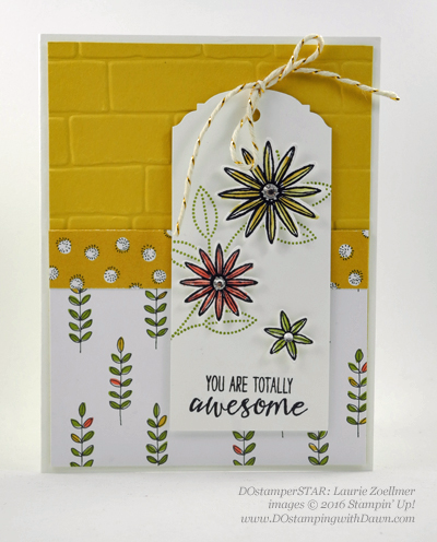 Grateful Bunch Bundle swap card shared by Dawn Olchefske #dostamping #stampinup (Laurie Zoellmer)