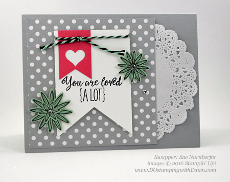 Grateful Bunch Bundle swap card shared by Dawn Olchefske #dostamping #stampinup (Sue Nurnberger)