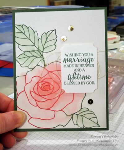 Rose Wonder swap card by Dawn Olchefske #dostamping #stampinup
