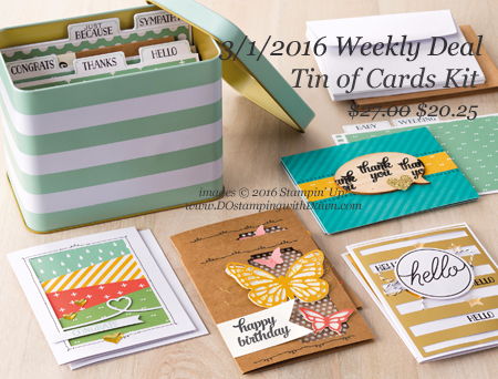 Weekly Deal Tin of Cards Kit shared by Dawn Olchefske #dostamping #stampinup