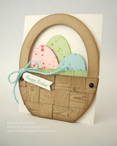 Oval Framelit Easter Basket card created by Dawn Olchefske #dostamping #stampinup