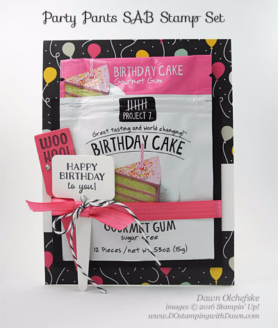 Handpicked Framelits with It's My Party DSP card created by Dawn Olchefske for DOstamperSTARS Thursday Challenge #DSC172 #dostamping #stampinup, Party Pants