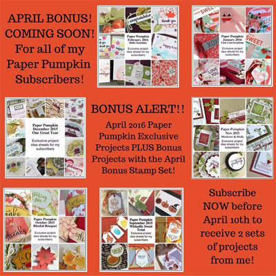 Double Bonus with April's Paper Pumpkin kit from Dawn Olchefske #dostamping #stampinup