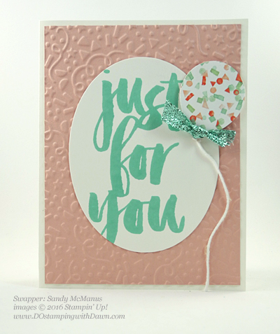 Sale-a-Bration Botanicals For You stamp set swap cards shared by Dawn Olchefske #dostamping #stampinup (Sandy McManus)
