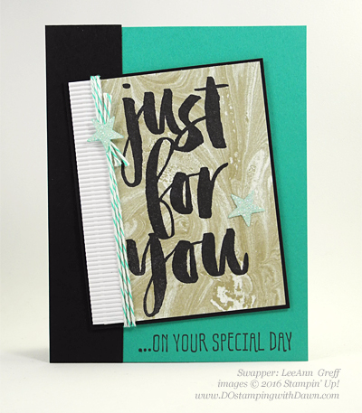 Sale-a-Bration Botanicals For You stamp set swap cards shared by Dawn Olchefske #dostamping #stampinup (LeeAnn Greff)