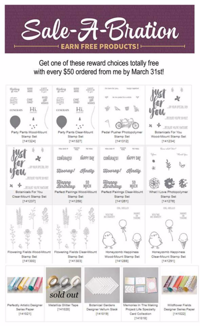Sale-a-Bration Choices 2-days left #dostamping #stamping