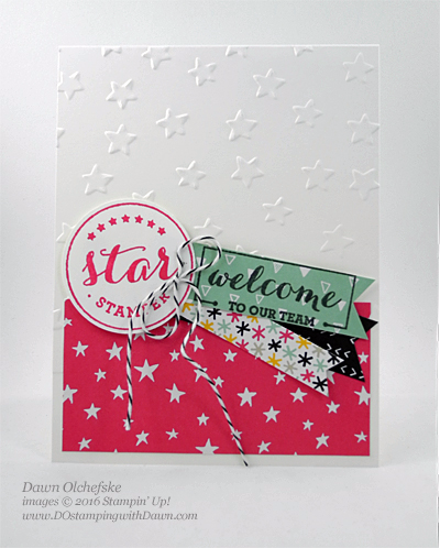 Welcome STARS created by Dawn Olchefske #dostamping #stampinup