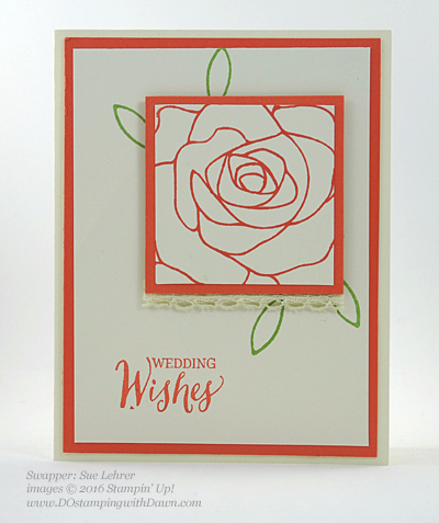 Rose Wonder Bundle card swap shared by Dawn Olchefske #dostamping #stampinup (Sue Lehrer)