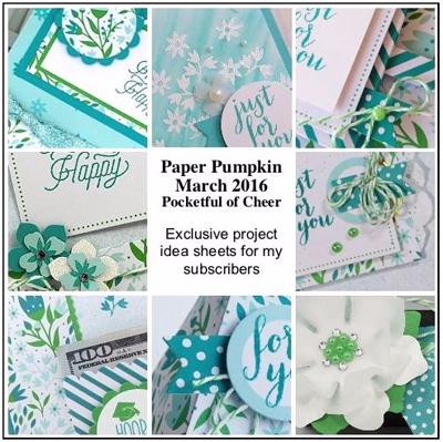DOstamping Paper Pumpkin March 2016 Bonus PDF #stampinup