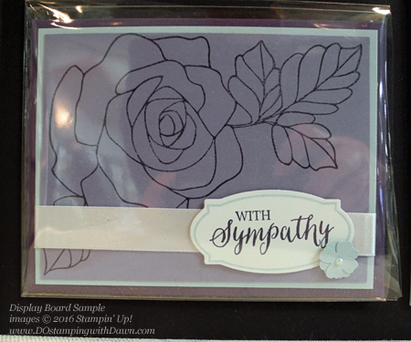 Rose Wonder Bundle display board card shared by Dawn Olchefske #dostamping #stampinup