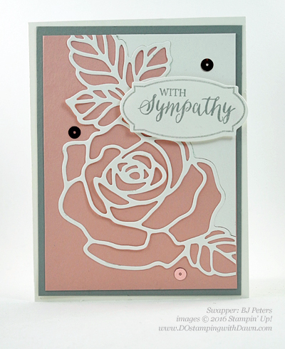 Rose Wonder Bundle card swap shared by Dawn Olchefske #dostamping #stampinup (BJ Peters)
