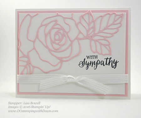 Rose Wonder Bundle card swap shared by Dawn Olchefske #dostamping #stampinup (Lisa Bowel)