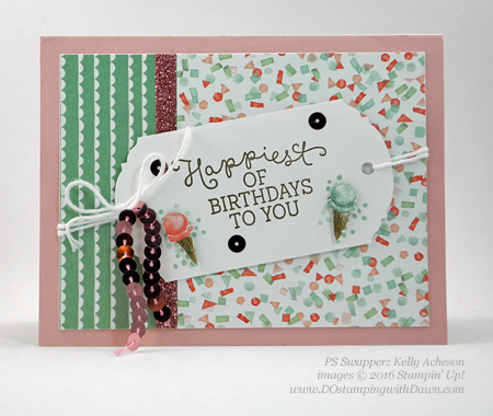 Birthday Bouquet swap cards shared by Dawn Olchefske #dostamping #stampinup (Kelly Acheson)