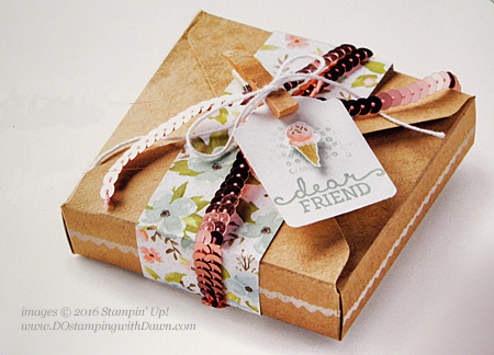 Birthday Bouquet box idea from Founder's Circle shared by Dawn Olchefske #dostamping #stampinup
