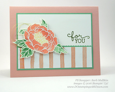 Birthday Blooms swap cards shared by Dawn Olchefske #dostamping #stampinup (Barb Mullikin)