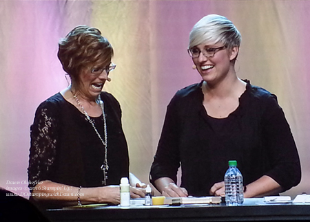 Shelli & Sara April 2016 On Stage #stampinup #dostamping