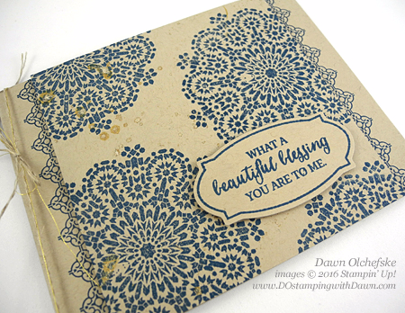 NEW Moroccan Nights from 2016-2017 Annual Catalog, Wink of Stella Trick card by Dawn Olchefske #dostamping #stampinup