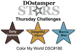 DSC#180 DOstamperSTARS, Thursday Color My World Challeng #dostamping #stampinup
