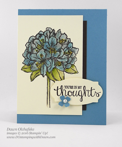 Best Thoughts painted with Wink of Stella Glitter Brush card created by Dawn Olchefske for DOstamperSTARS Thursday Challenge #DSC180 #dostamping #stampinup