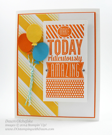 Amazing Birthday Balloon Card created by Dawn Olchefske, #dostamping, #stampinup