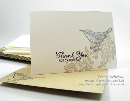 An Open Heart Thank You card created by Dawn Olchefske #dostamping #stampinup