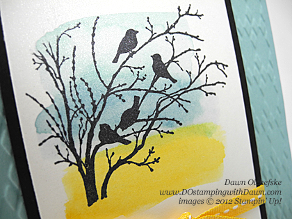 Serene Silhouettes Watercolor Wash Card created by Dawn Olchefske, #dostamping, #stampinup