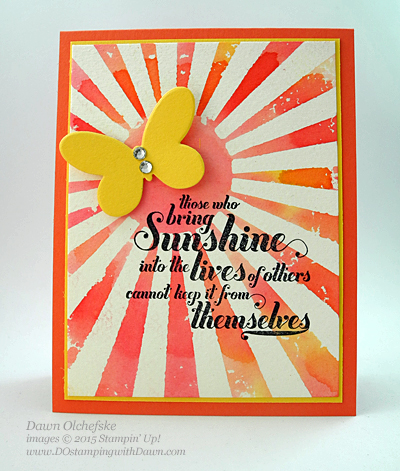 Reverse Mask Stamping technique card created by Dawn Olchefske, #dostamping #stampinup