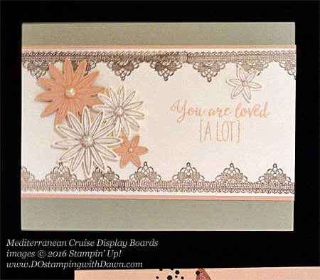 Grateful Bunch, Awesomely Artistic, Mediterranean Cruise Display Card shared by Dawn Olchefske #dostamping #stampinup