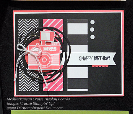 Pun Intended, Mediterranean Cruise Display Card shared by Dawn Olchefske #dostamping #stampinup