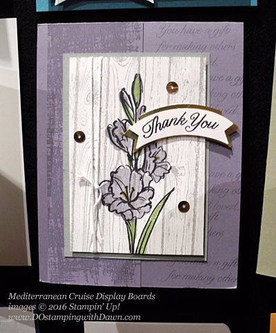 Gift of Love, Mediterranean Cruise Display Cards shared by Dawn Olchefske #dostamping #stampinu