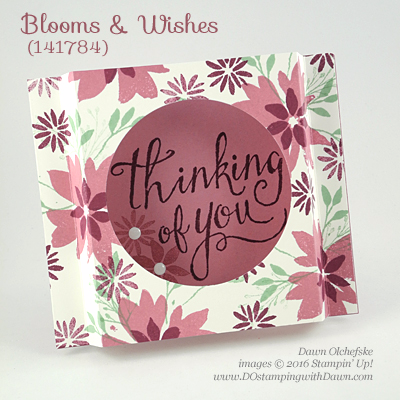 Blooms & Wishes card created by Dawn Olchefske for DOstamperSTARS Thursday Challenge #DSC186 #dostamping #stampinup