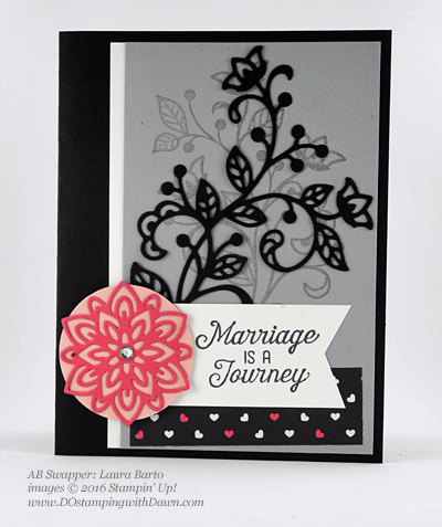 Flourishing Phrases Bundle swap cards shared by Dawn Olchefske #dostamping #stampinup (Laura Barto)
