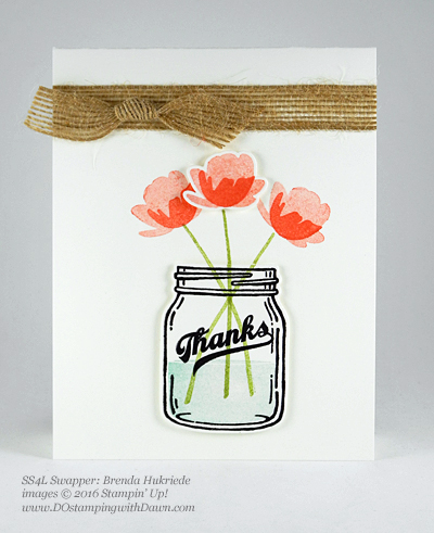 Jar of Love Bundle swap cards shared by Dawn Olchefske #dostamping #stampinup (Brenda Hukriede)