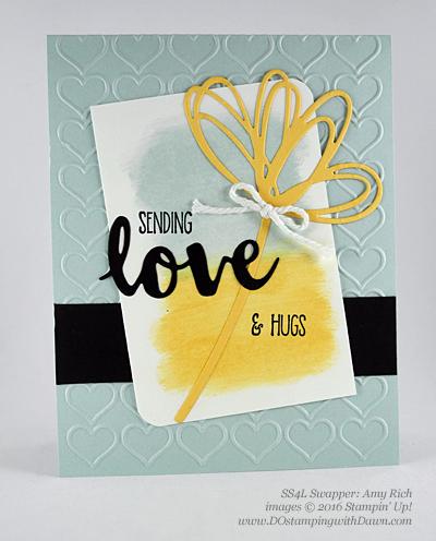 Sunshine Wishes Bundle swap cards shared by Dawn Olchefske #dostamping #stampinup (Amy Rich)