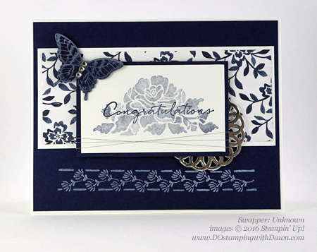 Floral Phrases Bundle swap cards shared by Dawn Olchefske #dostamping #stampinup