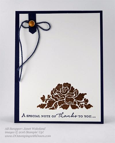 Floral Phrases Bundle swap cards shared by Dawn Olchefske #dostamping #stampinup (Janet Wakeland)
