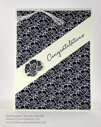 Floral Phrases Bundle swap cards shared by Dawn Olchefske #dostamping #stampinup (Brenda Hukriede)