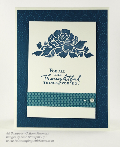 Floral Phrases Bundle swap cards shared by Dawn Olchefske #dostamping #stampinup (Colleen Magness)