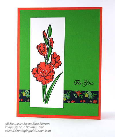Gift of Love swap card shared by Dawn Olchefske #dostamping #stampinup (Susan Elise Morton)