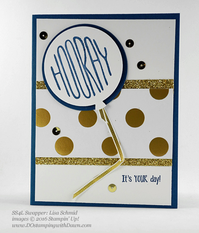 Confetti Celebration swap card shared by Dawn Olchefske #dostamping #stampinup (Lisa Schmid)