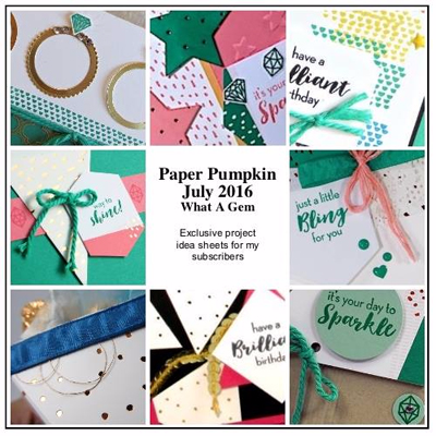 What a Gem Paper Pumpkin Alternative Ideas BONUS PDF for Subscribers offered by Dawn Olchefske #dostamping #stampinup