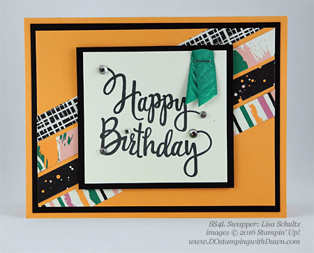 Stylized Birthday with Playful Palette DSP swap cards shared by Dawn Olchefske #dostamping #stampinup (Lisa Schultz)