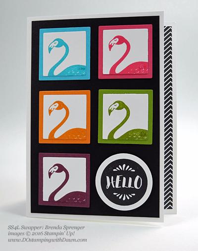Pop of Paradise swap cards shared by Dawn Olchefske #dostamping #stampinup (Brenda Sprenger)