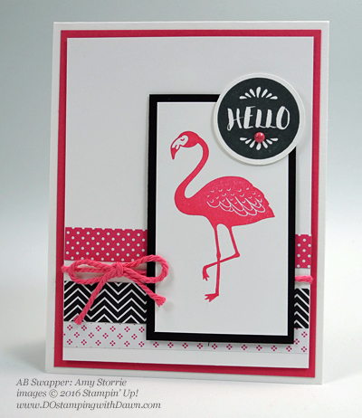 Pop of Paradise swap cards shared by Dawn Olchefske #dostamping #stampinup (Amy Storrie)