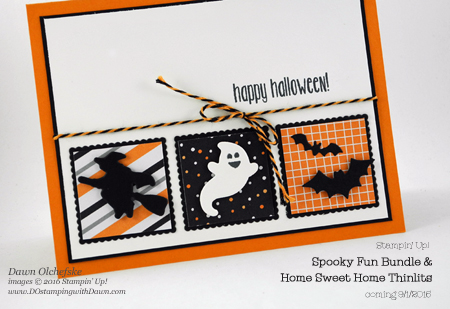 Spooky Fun Bundle card created by Dawn Olchefske for DOstamperSTARS Thursday Challenge #DSC195 #dostamping #stampinup