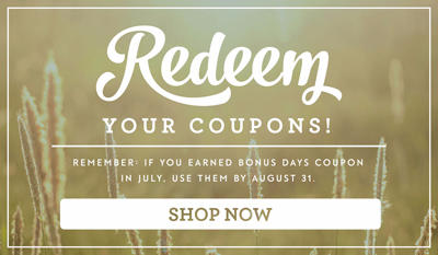 Don't for get to redeem Bonus Coupon codes in Aug 2016 #dostamping #stampinup