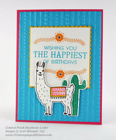 Birthday Fiesta Bundle swap cards shared by Dawn Olchefske #dostamping #stampinup (Stephanie Leider)