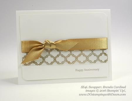 Stampin' Up! Special Offer Sept 8/14 Fabulous Foil Designer Acetate swap card shared by Dawn Olchefske #dostamping (Brenda Cardinal)
