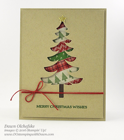 Stampin' Up! Warmth & Cheer Washi Tape & Santa's Sleigh Bundle card created by Dawn Olchefske for DOstamperSTARS Thursday Challenge #DSC198 #dostamping