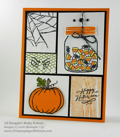 8 Spooky Stampin' Up! Halloween swap cards shared by Dawn Olchefske #dostamping (Becky Roberts)